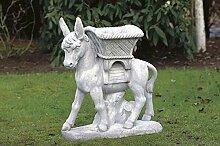 pompidu-living Esel mit Blumenkasten, Gartenfigur,