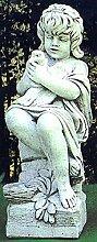 pompidu-living Sitzende Statue mit Vogel, H 90,