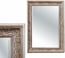 Pompöser Barock Spiegel FIORA 90x70cm Silber - Antik