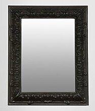 Pompöser Barock Spiegel Rechteckig Schwarz 157 x