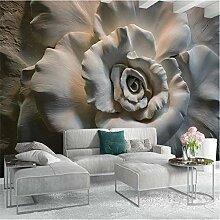 ponana Wandtapete mit 3D-Motiv Rose für