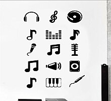 Ponana Wandtattoo Musik Melodie Musical Notes