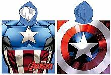 Poncho Handtuch Capitan America Superheld Avengers