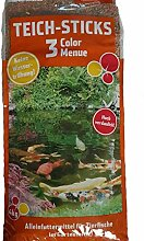 Pond-Star 3 Color Menü 4Kg Teichsticks Teichfutter Sticks Mix Futter Gartenteich Fischfutter
