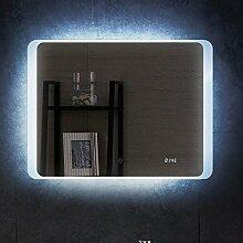 PonteSino LED Badspiegel mit Beleuchtung Uhr