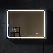 PonteSino LED Leuchtspiegel Uhr Spiegel Beleuchtet