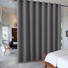 PONY DANCE Raumteiler Vorhang mit Ösen - Grau