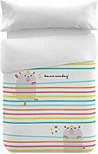 Pooch Bettbezug Bett- und Kissenbezug, Baumwolle, bunt, 120x 100x 3cm