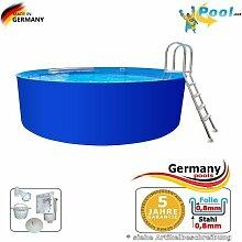 Pool 2,00 x 1,25 Rundpool Stahlwandpool 2 m