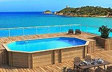 Pool achteckig Holz 8,40x 4,90wh1.33komplett-Anlage Filtration Wellness