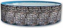 Pool Circular Außerhalb Boden 450x 90doppelwandig Hartschale lackiert Stein grau Promo Dir