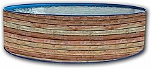 Pool Circular Außerhalb Boden 450x 90doppelwandig Hartschale lackiert Pinus Promo Dir