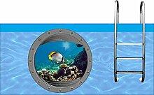 pool-design.eu Aufkleber Pool * Sticker
