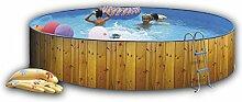 Pool eco rund, Durchmesser 350 bis 450 cm, Holz, Hochformat, 400 cm)