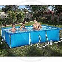 Pool fuoriterra rechteckig Bestway Hartschale Pro Frame 300x 201x 66h cm