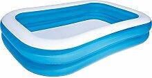 Pool Gartenpool Schwimmbad Family Pool 2 Ringe blau/weiß 262x175x51cm