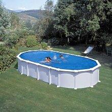 Pool Gre Dream Pool Haiti Stahl weiße 8,10x 4,70x 1,32m kitprov8188