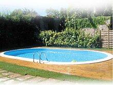 Pool Gre Oval zum Einbauen 600x 320x Höhe 150cm