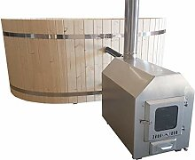 Pool Heizung Ofen mit Holz Edelstahl V2A mit