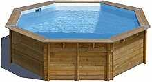 Pool Holz Veilchen Ø 5,11x 1,24m–sunbay