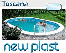 Pool interrata Oval Kit Toscana 600/H 150