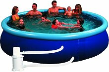 Pool Quick Up Set bestehend aus Filteranlage Abdeckplane, transparent blau, 350 X 76 cm, 12301