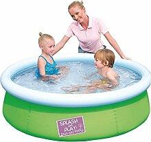 Pool Schwimmbecken 152x38cm Quick-Up aufblasbar verschied. Farben Planschbecken, Farbe:hellgrün