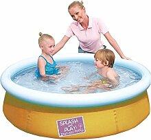Pool Schwimmbecken 152x38cm Quick-Up aufblasbar verschied. Farben Planschbecken, Farbe:orange