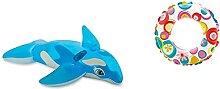 Pool Schwimmbecken aufblasbar Dekofigur (Wal blau)