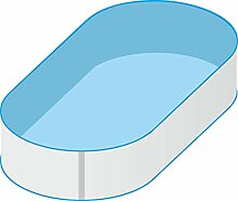 Pool Schwimmbecken Oval Ovalpool 4,90 x 3,00 x