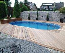 Pool Schwimmbecken Oval Ovalpool 8,00 x 4,00 x