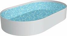 Pool Schwimmbecken OVAL Stahlwand Höhe 120 cm inkl Technikpaket 4,20 x 8,00 x 1,20 m