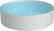 Pool Schwimmbecken RUND Stahlwand Höhe 150 cm