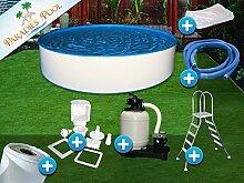 Pool Set Easy 3,00x1,50m rund Stahlwandbecken Komplettset Aufstellbecken