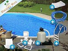 Pool Set Easy 3,50x7,00x1,20m oval Stahlwandbecken Komplettset Tiefbecken