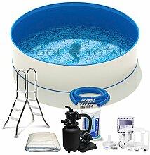Pool-Set Top | 4,50 x 0,90m | Folie 0,6mm | Stahlrahmenpool inkl. viel Zubehör