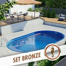 Pool Total - Ovalpool-Set BRONZE 8,00 x 4,00 x