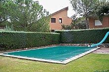 Poolabdeckung für den Winter, blickdicht, für 6x 3Meter Pool. Schutzabdeckung für den Winter, PVC mit 650g/m². 6,40x3,40metros