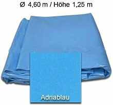Poolfolie Blau Ø 4,6 x 1,25m Tiefe Stärke 0,6mm Innenhülle Innenfolie Poolinnenhülle Schwimmbadfolie