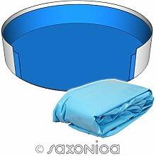 Poolfolie Innenhülle Rundpool 400 x 120 cm - 0,6 mm blau Rundbecken