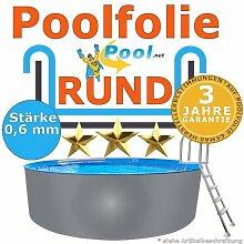 Poolfolie rund 8,00 x 0,6 mm 1,20 1,25 1,35 1,50 m Ersatzfolie Innenfolie Innenhülle rund folie Rundpool Schwimmbadfolie
