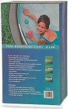 Poolvlies rund PP-Vlies 140 g/m² grau