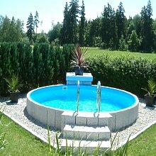 Poolzon Rundpool Fun-Zon 5,00 x 1,20m, Stahlwandpool, Schwimmbecken, Stahlwandbecken
