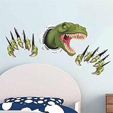 Poowef 3D Dinosaurier Wand Aufkleber Für Kinderzimmer Dekoration Diy Tiere Wandmalerei Kunst Safari Pvc-Wänden, Aufkleber, Multi