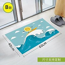 Poowef Stick Slip Aufkleber Wc Scrub Wc Wasserdicht Gummiertes Papier Köper Bad Glas Pad Zum Schutz Der Umwelt Entfernen, 90 * 60 Cm, Zwei