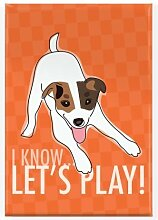 Pop Doggie Lets Play Jack Russell Terrier Fridge