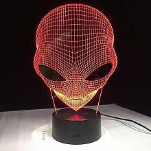 Pop-eyed Alien 3D Lampe Nachtlicht Mood Light
