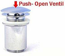 Pop up Ablauf Abfluss Excenter Ventil Ablaufgarnitur Waschtisch Waschbecken 4007