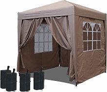 Pop-Up-Pavillon 2,5 x 2,5 m Beige mit