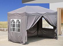 Pop-Up-Pavillon 2 x 3 m Smoky Grau mit 4